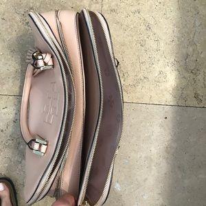 f4be98ac3e1 Tory Burch Bags - Tory Burch Thea Patent Triple-Zip Satchel